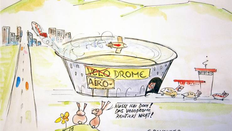 Das Velodrome liesse sich auch prima als Aerodrome nutzen.