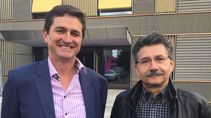 Kandidiert für Stadtrat und Präsidium: Anton Kiwic (links) mit SP-Ortspräsident Manuel Peer.