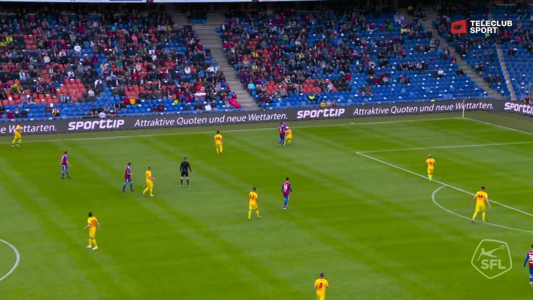 Super League, Saison 2018/19, Runde 36  FC Basel-Neuchâtel Xamax , 2:0 für FC Basel 1893 von Samuele Campo (Assist: Ricky van Wolfswinkel)