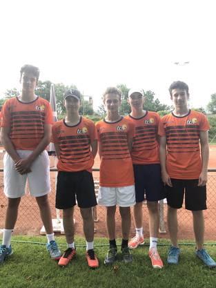U-18 Juniorenmannschaft des Tennisclubs Rheinfelden