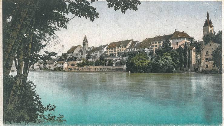 Robert Räber in Zürich hat diesen Kartengruss im April 1919 erhalten, abgeschickt wurde sie in Bremgarten von einem «Hermannli».