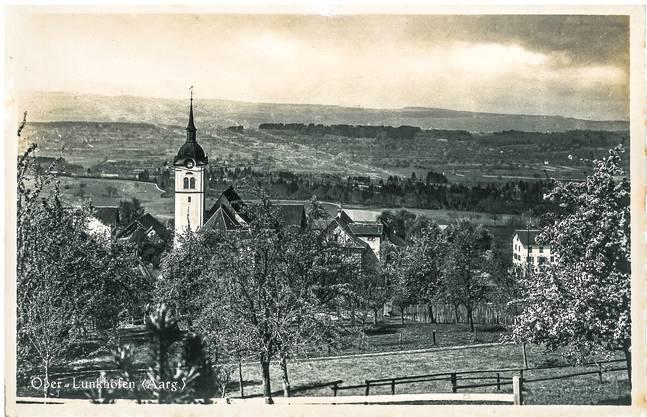Mit dieser Postkarte aus Oberlunkhofen hoffte ein unbekannter Absender auf ein «frohes Wieder- sehen». Die Karte ist ohne Poststempel, gedruckt wurde sie 1939.