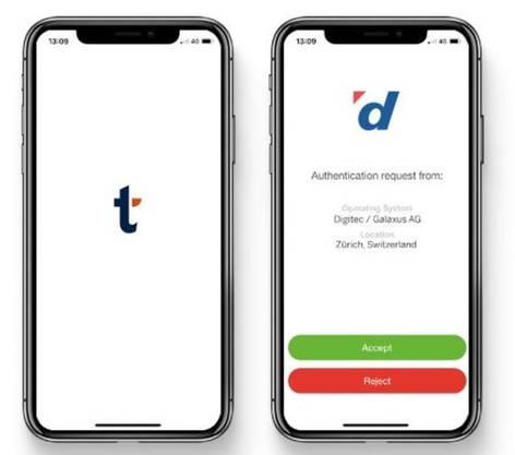 Sicherheits-Apps wie Transakt reduzieren das Betrugsrisiko: Beim Online-Einkauf mit Kreditkarte wird man in der separaten App nochmals aufgefordert, die Transaktion zu bestätigen.