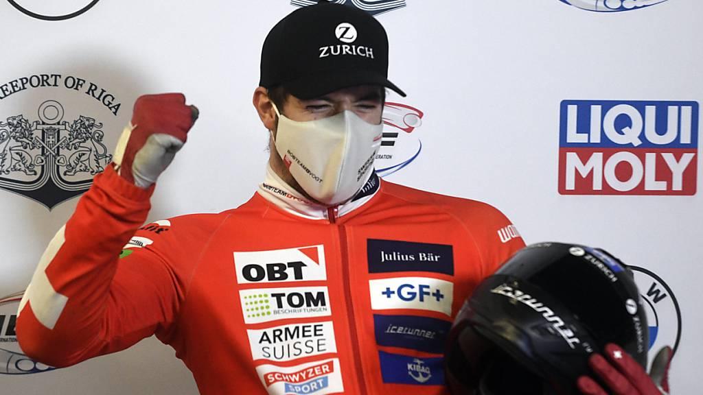 Michael Vogt freut sich über seine beste Klassierung im Weltcup
