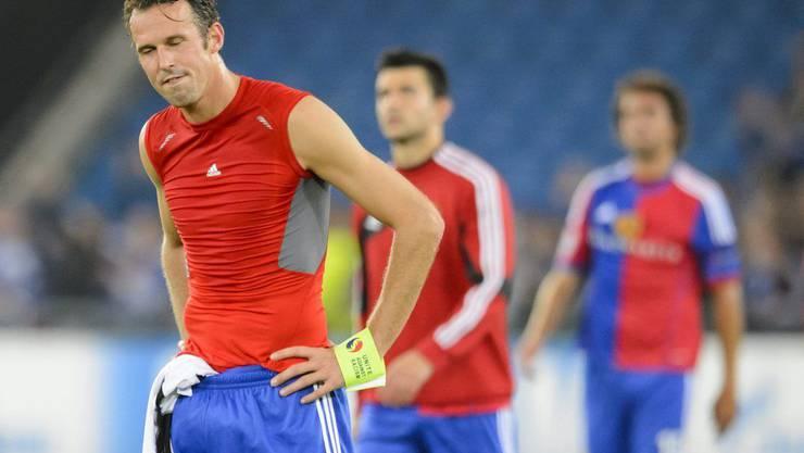 Marco Streller und der FC Basel sind nach dem verlorenen Match niedergeschlagen