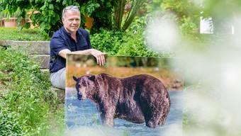 Fritz Moser (55) aus Unterentfelden, nach einem Hirnschlag linksseitig gelähmt, fotografiert Bären in freier Wildnis.
