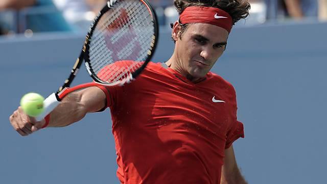 Roger Federer siegte gegen Marin Cilic in vier Sätzen.