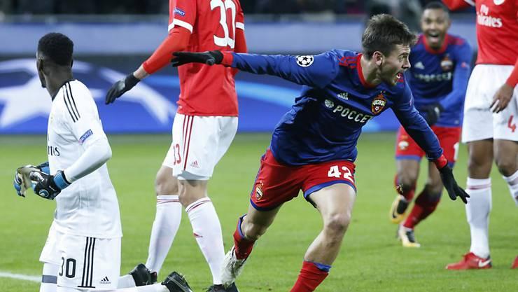 Georgi Schennikow brachte ZSKA Moskau im Heimspiel gegen Benfica Lissabon in Führung