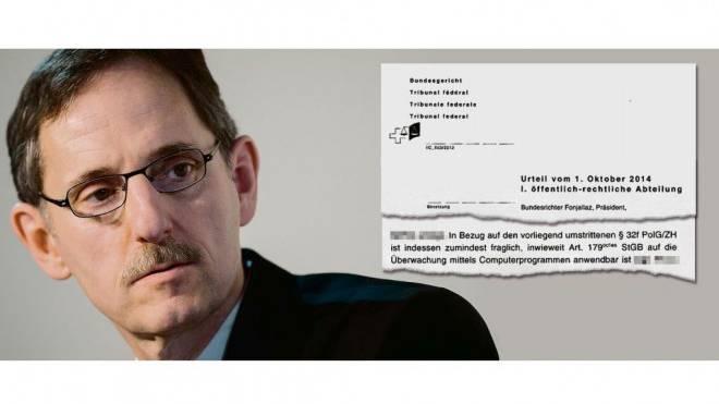 Warnschuss: Urteil des Bundesgerichts stellt die Trojaner-Rechtsgrundlage infrage. Foto: Keystone