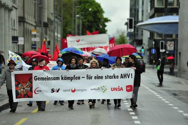 Der 1.-Mai-Umzug in Aarau.