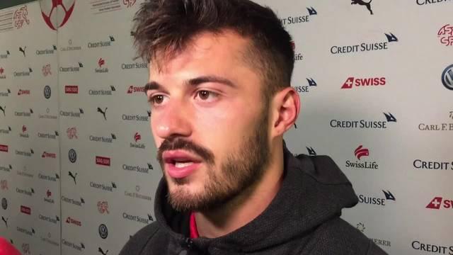 Albian Ajeti spricht nach dem 6:0 gegen Island über sein Traum-Debüt in der Nati