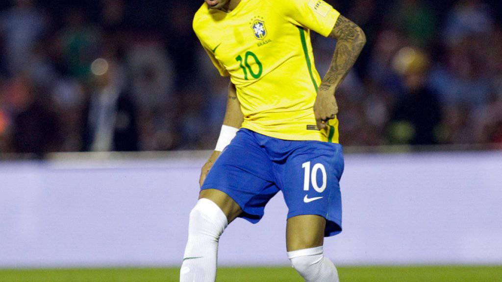 Neymar soll mit Brasilien den sechsten WM-Titel holen
