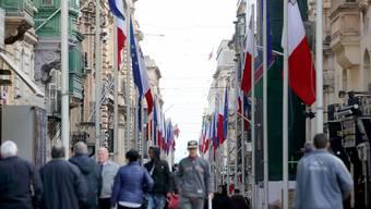 Malta ist vorbereitet – in den Strassen der Hauptstadt Valletta wehen die Fahnen der EU und Maltas.DOMENIC AQUILINA/EPA/Keystone