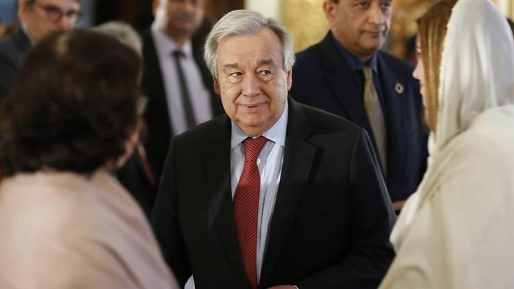 """Uno-Generalsekretär Guterres fordert den Stopp von """"perversen"""" Subventionen für klimaschädliche fossile Energieträger."""