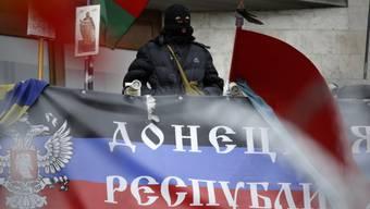 Prorussicher Aktivist in Donezk