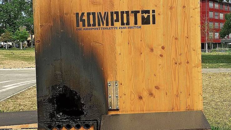 So sah das «Kompotoi» nach dem Anschlag im August aus.