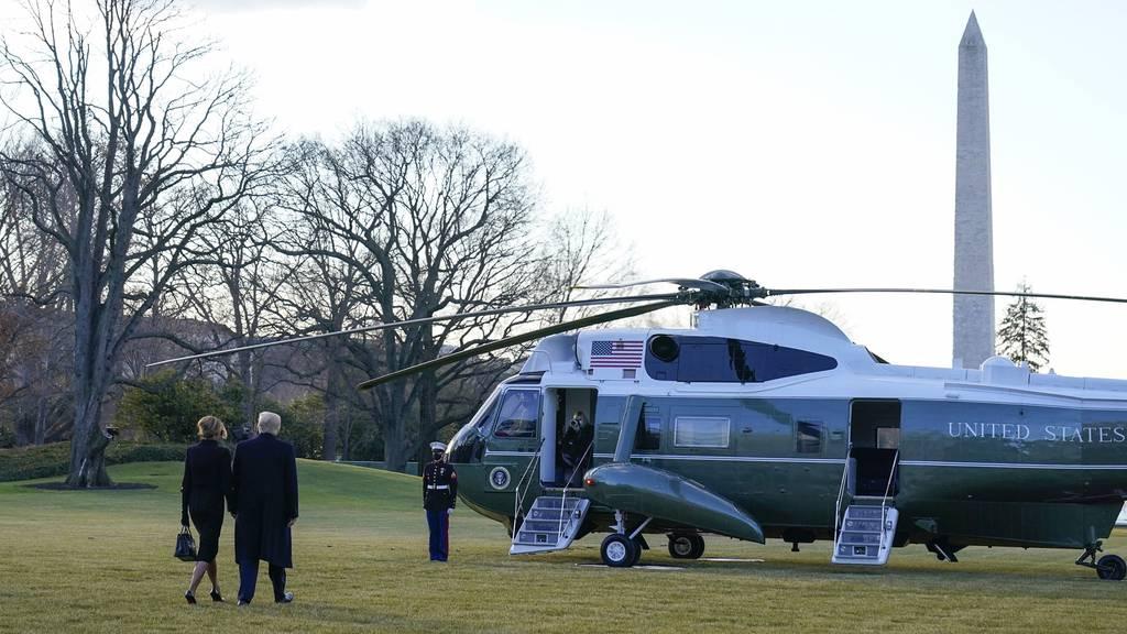 Vor Bidens Vereidigung: Trump verlässt das Weisse Haus