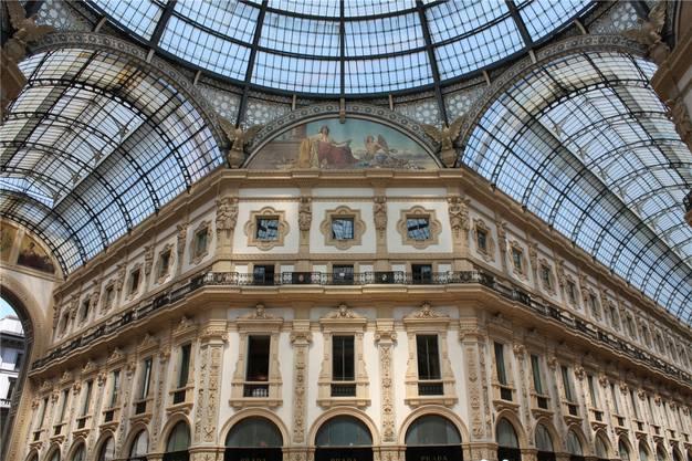 Eines der Wahrzeichen Mailands: Die Galleria Vittorio Emanuele II.