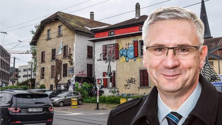 Das linksautonome Kulturzentrum im Stadtzentrum von Bremgarten war einst eine Kleiderfabrik – nun will Andreas Glarner es kaufen.