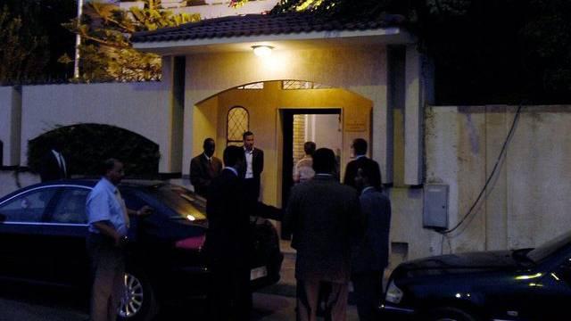 Der Haupteingang der Schweizer Botschaft in Tripolis (Archiv)