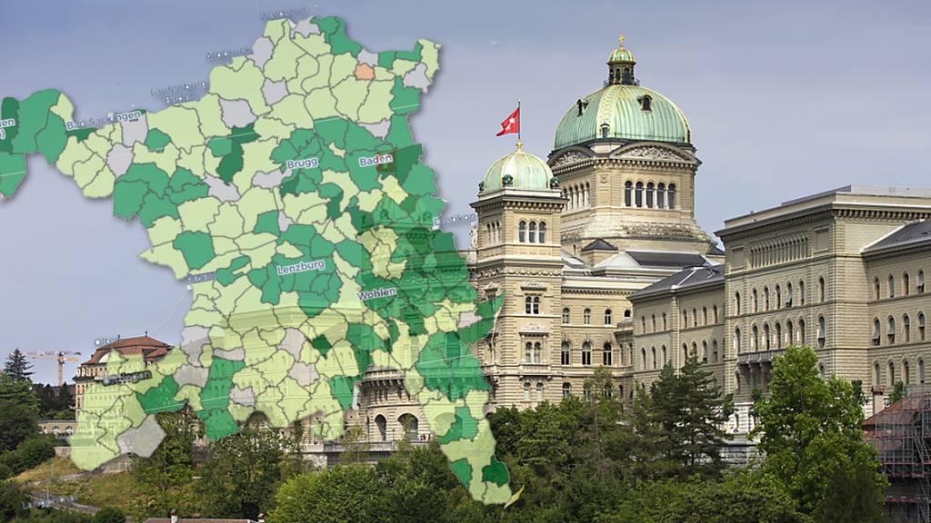 Interaktive Karte: So stark haben die Grünen und Grünliberalen in Ihrer Gemeinde zugelegt