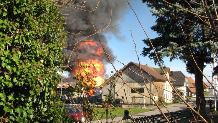 Vor zehn Jahren explodierten in Safenwil 300 Gasflaschen.