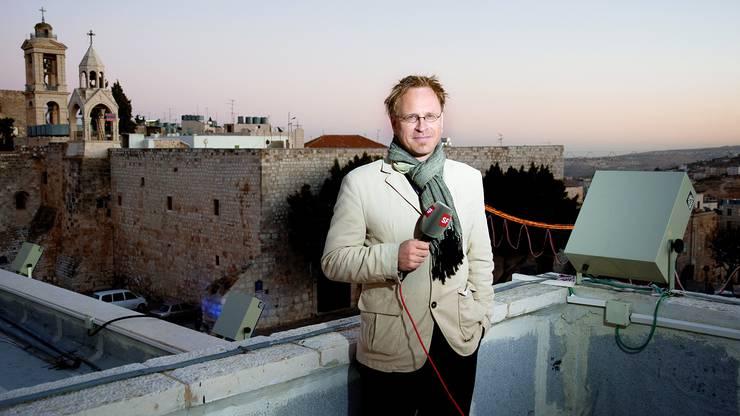 Vor zehn Jahren war er noch beim Schweizer Fernsehen, jetzt gilt er als Schatten des Bundesanwalts: Informationschef André Marty (hier auf einem Foto von 2009 in Bethlehem).