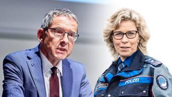 Urs Hofmann würdigt Irene Schönbächler.
