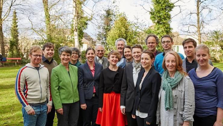 Die 16 Nominierten der Grünen Aargau.