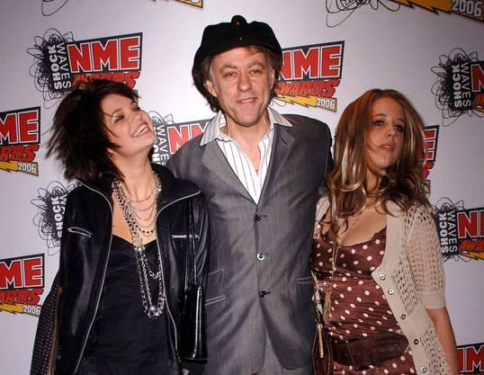 Peaches Geldof (rechts) zusammen mit Vater Bob und Schwester Pixie.