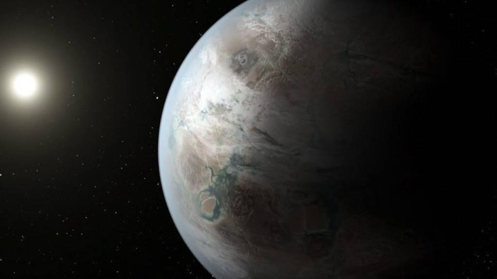 Die Grösse eines Exoplaneten wird laut einer neuen Studie auch dadurch bestimmt, ob er vorwiegend aus trockenem Gesteinsmaterial oder viel Eis besteht. (Symbolbild)