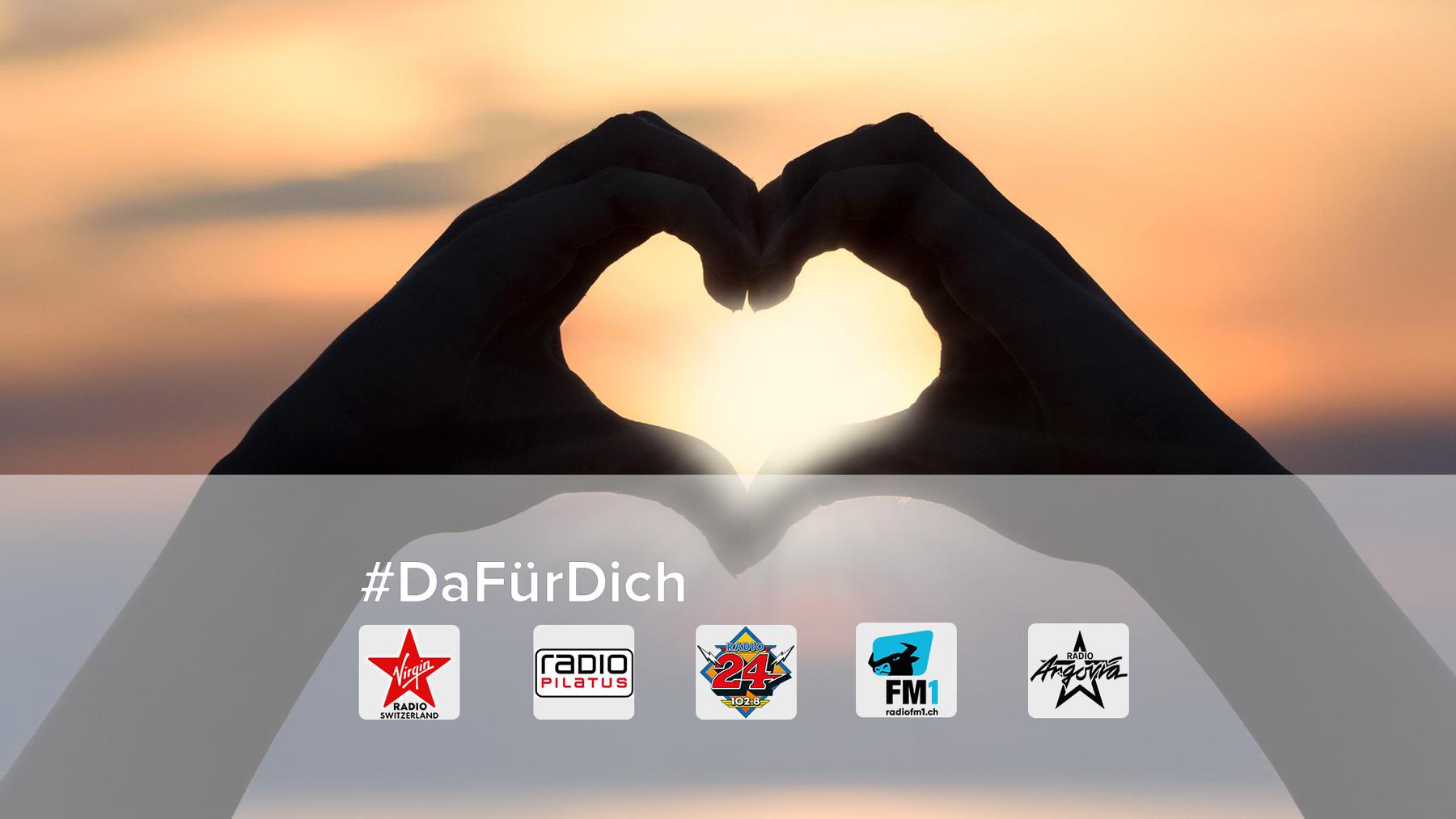Die Privatradios von CH Media sind für euch da in der Corona-Krise! Mach mit auf Social Media unter #DaFürDich.