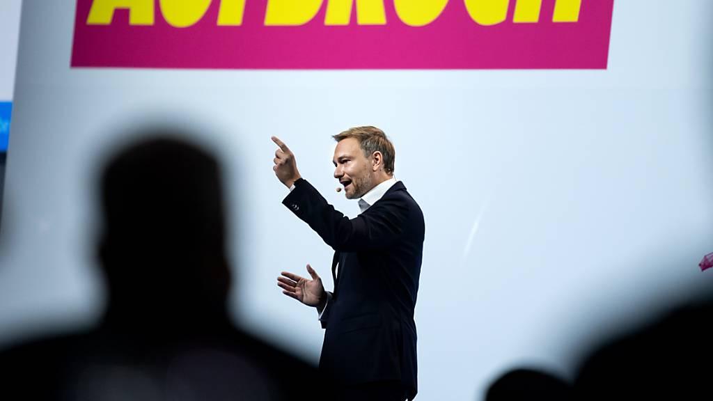 Lindner: FDP strebt nach Bundestagswahl Regierungsbeteiligung an