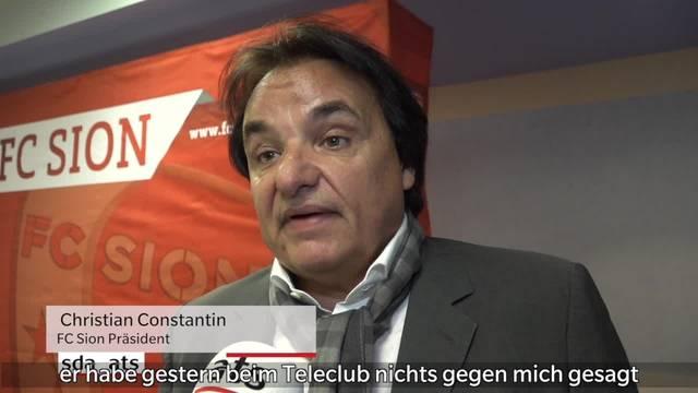 Das sagt Christian Constantin zu seinem Angriff auf Rolf Fringer