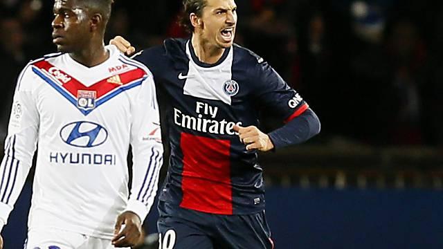 Zlatan Ibrahimovics Jubel nach seinem Penaltytor zum 2:0 für PSG