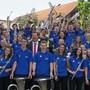 Die Jugendband Wegenstettertal wird seit Sommer 2017 vom ungarischen Dirigenten Bence Toth (Krawatte) geleitet. ZVG