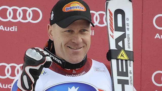 Didier Cuche zeigte im Training eine Topleistung