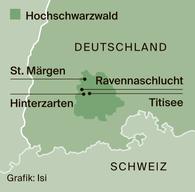 Der Hochschwarzwald, nahe der Schweiz und nur 30 Kilometer östlich von Freiburg gelegen, ist die beliebteste Ferienregion im Schwarzwald. Ein Wahrzeichen ist der Feldberg, mit 1493 Metern der höchste Berg in Baden-Württemberg. 2000 Gastgeber mit mehr als 30000 Betten zählen die 16 Orte. Ein gerade bei Besuchern aus der Schweiz beliebtes Tagungs- und Wellnesshotel ist das Hotel Saigerhöh mit grosszügigen Zimmern (www.saigerhoeh.de). Der Hochschwarzwald bietet ein Wanderwegnetz von über 1700 Kilometer Länge, zahlreiche Rad- und Mountainbike-Strecken, Erlebnispfade, Winterwanderwege, rund 50 Kilometer ausgeschilderte Schneeschuhtrails und 60 Skilifte. Wassersportler finden am Titisee und am Schluchsee ein breites Angebot. Ausserdem gilt der Hochschwarzwald als grösste ausgezeichnete familienfreundliche Ferienregion in Baden-Württemberg. (mus)  Mehr Informationen: www.hochschwarzwald.de und www.kloster-museum.de.