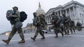 Nationalgardisten in der Hauptstadt: 25'000 Soldatinnen und Soldaten sind nach Washington verlegt worden.