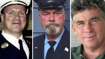 Howard Bischoff, Daniel Heglund und Robert Leaver (v.l.n.r.) sind tot. Die drei ehemaligen Feuerwehrleute aus New York litten an den Spätfolgen ihres Einsatzes auf dem Ground Zero. Alle litten an Krebs, alle starben sie am selben Tag.