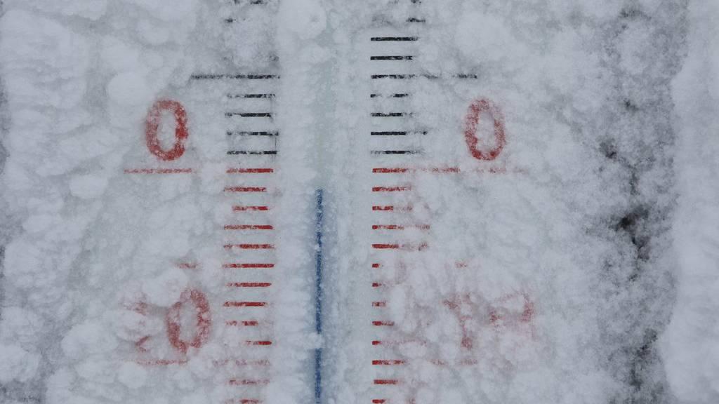 Die Temperaturen erreichen am Mittwoch im FM1-Land vielerorts höchstens den Nullpunkt.