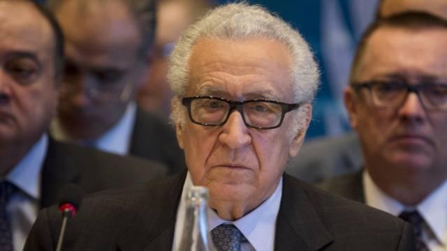 UNO-Vermittler Lakhdar Brahimi am Mittwoch in Montreux (Archiv)