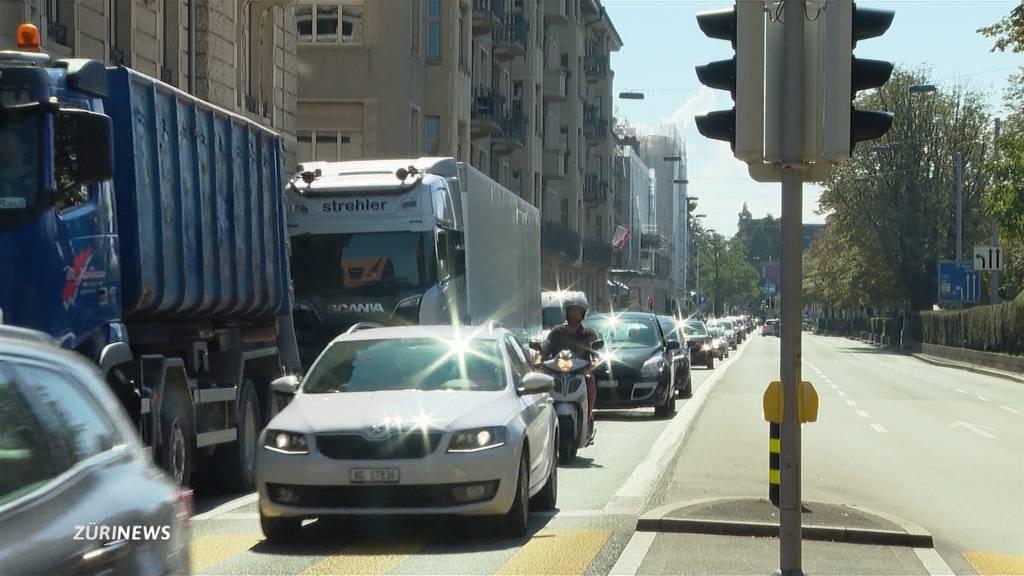 Zürcher Bellerivestrasse soll auf zwei Spuren schrumpfen