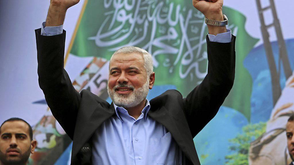 Der langjährige Hamas-Führer im Gazastreifen, Ismail Hanijeh, ist der neue Chef der radikalislamischen Palästinenserorganisation. Hanijeh tritt die Nachfolge von Chaled Meschaal an