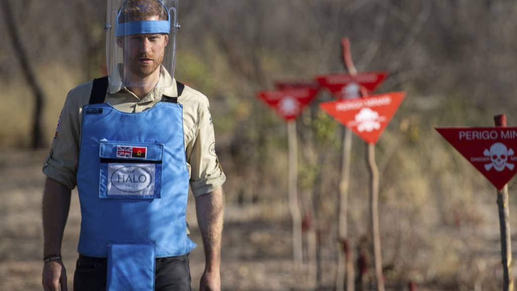 Prinz Harry: Engagement gegen Landminen