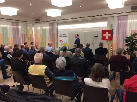 Der SVP Sektionspräsident von Birmensdorf begrüsste die Anwesenden
