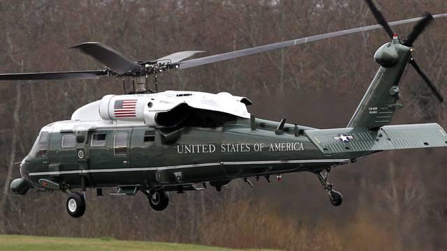 Obamas Marine One bei der Landung (Symboldbild)