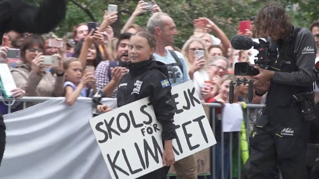 Greta Thunberg in New York angekommen