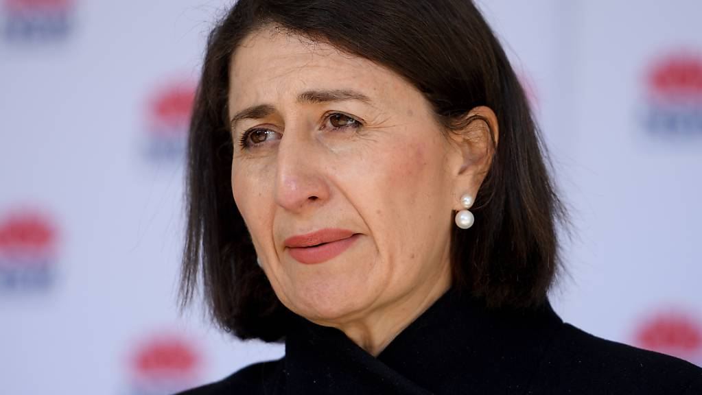 NSW Premier Gladys Berejiklian addresses media during a press conference in Sydney, Wednesday, July 7, 2021. The coronavirus lockdown in Greater Sydney and surrounds will be extended by a week after NSW recorded 27 new local cases. (AAP Image/Dan Himbrechts) NO ARCHIVING