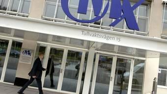 Das Logo des schwedischen Börsenbetreibers OMX (Archiv)